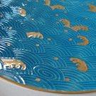 """Vintage Japan Waves Embossed / Raised Relief 12"""" Chop Plate/Round Platter"""