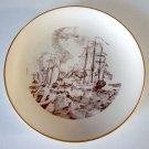 Vintage 1976 Royal Devon USA Fine China 1776 Battle Of Lake Champlain Plate