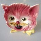 Vintage Grantcrest Japan Handpainted Cat Head Wall Hanging or Dish