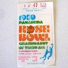 1980 Rose Bowl Game ticket stub USC Ohio State