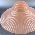 "Vintage 11"" Pink Glass Ceiling Light Lamp Shade Bowl - Chinese Fan"