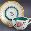Vintage Stangl Garden Flower Cup & Saucer -  Set of 3