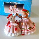 Vintage 1994 Kitty Cucumber Figurines Ginger & Muffin
