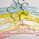 Vintage Plastic Child / Infant Hangers - Lambs, Carousel, Set of 6