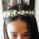 Handcrafted Head Wreath - Crown - Baby Breath - Adjustable