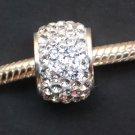 White Crystal Swarovski bead sterling silver