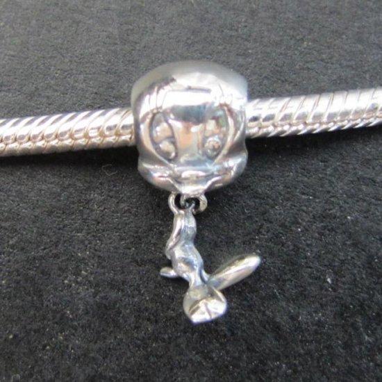 Twisty bead sterling silver