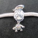 Donale Duck bead sterling silver