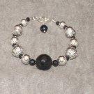 Galaxy Bracelet: Black onyx, sterling silver