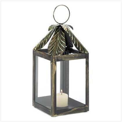 Palm Leaf Candle Lantern