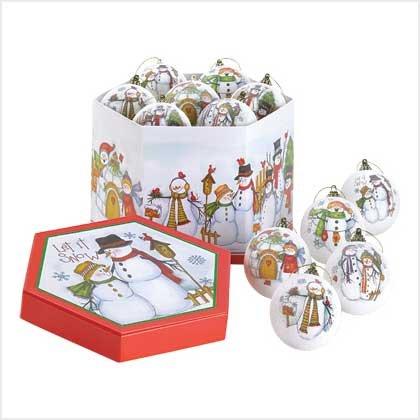 Let It Snow Ornament Set