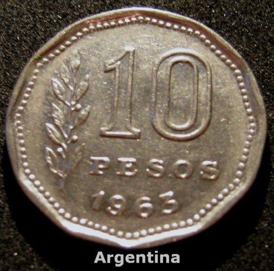 Argentina 1963 10 PESOS #3