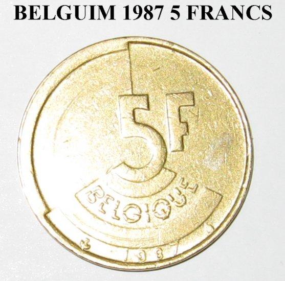 Belgium 1977 5 FRANK UNC. #4