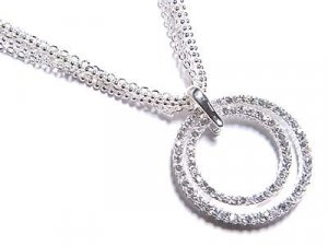 Double Circle of Life Austrian Crystal Necklace - FREE SHIPPING
