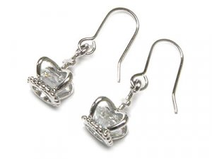 Dazzling 3 Dimensional Austrian Crystal Crown Earrings - FREE SHIPPING