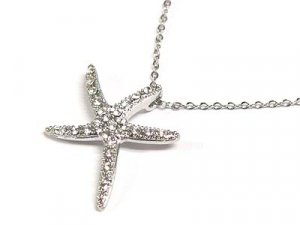 "Brilliant 17""  Austrian Crystal Starfish Necklace"