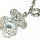 Brilliant Teddy Bear Austrian Crystal Necklace