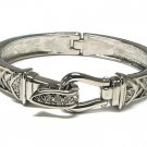 Beautiful Austrian Crystal Hinged Bangle Bracelet - FREE SHIPPING
