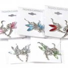 Beautiful Tinkerbell Silvertone Earring Jewelry Lot (12 Pack)
