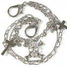 Crystal Skull & Crossbones Pirate Silver Fashion Belt - FREE SHIPPING