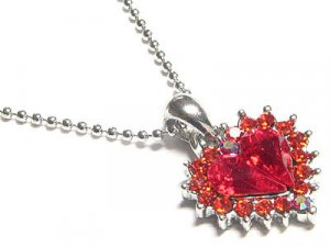 STUNNING Austrian Crystal Heart Necklace - FREE SHIPPING