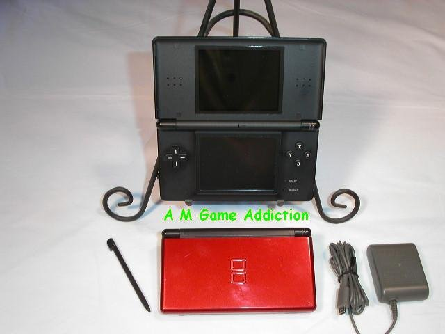 Nintendo DS Lite Crimson (red w/ black trim)