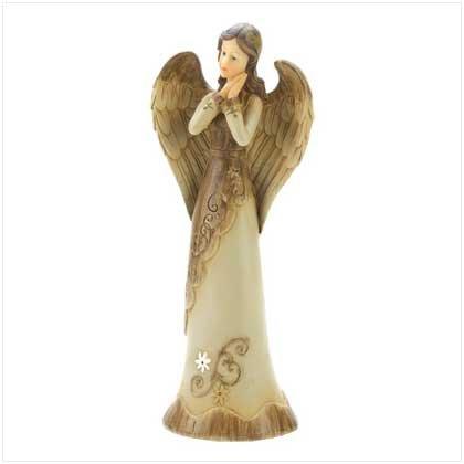 Antique Standing Angel Figure