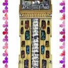 Rare New Wood Crystal Mezuzah judaica Torah Doorpost C