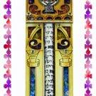 Rare New Wood Crystal Mezuzah judaica Torah Doorpost D