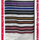 JEWISH MULTICOLOR TALLIT WOOL TALIT PRAYER SHAWL S=55