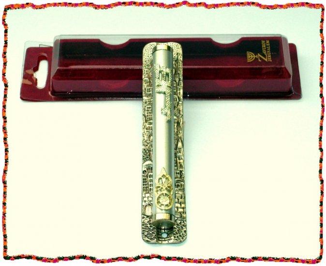 "New 7 "" Metal Mezuzah judaica Israel Torah Doorpost A"