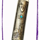 "New 6 "" Metal Mezuzah judaica Israel Torah Doorpost A"