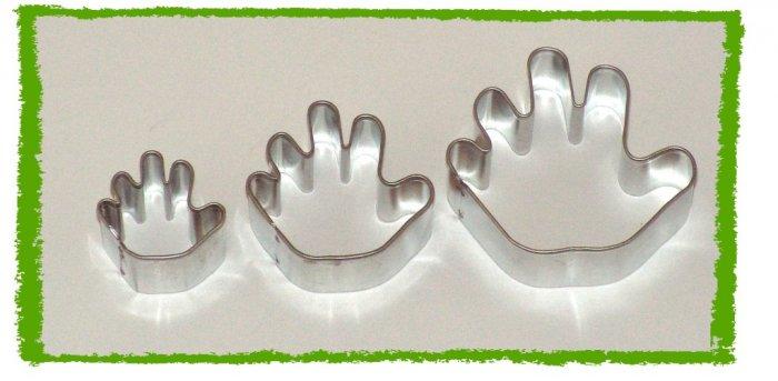 3 Metal Hamsa Cutters Cake Sugarcraft Fondant Set NEW