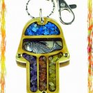 NEW Wood Luck  Success Key chain Hamsa from Holy Land F