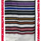 JEWISH MULTICOLOR TALLIT WOOL TALIT PRAYER SHAWL S=45