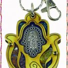 NEW Wood Luck  Success Key chain Hamsa from Holy Land B