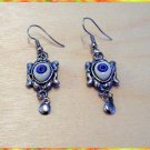 KABBALAH JUDAICA EVIL EYE CHARM EARRINGS RARE HAMSA B