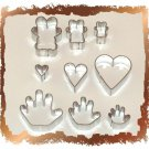 9 Cutters Set For  Cake decorating Sugarcraft Fondant !