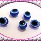 2 Hamsa  silver Blue Eye Gem , clear evil eye key chain