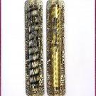 2 lot silver/gold  Metal Mezuzah + 2 Kosher Scroll Klaf
