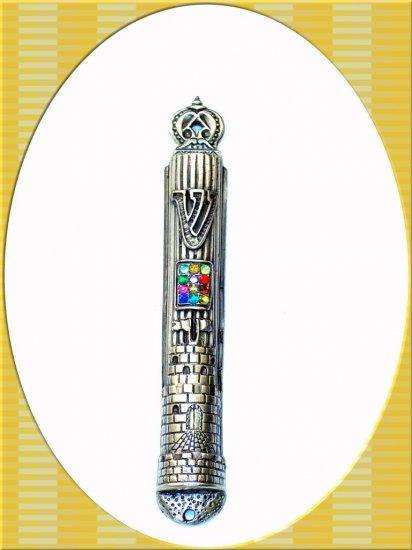 "New 7 "" Metal Mezuzah judaica Israel Torah Doorpost B"
