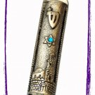 "New 6 "" Metal Mezuzah judaica Israel Torah Doorpost B"