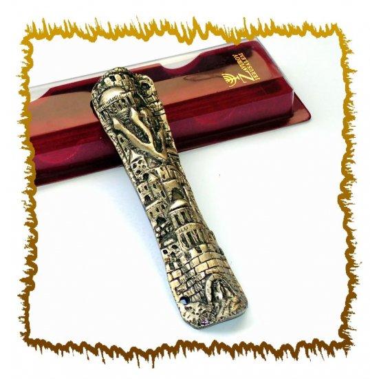 """New 6 """" Metal Mezuzah judaica Israel Doorpost Torah"""