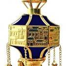 "NEW Finials RIMONIM FOR TORAH 29 cm/11.4"" Gold & Blue"