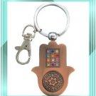 Copper Hamsa MAGEN DAVID kabbalah key chain evil eye
