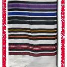 JEWISH MULTICOLOR TALLIT PRAYER SHAWL WOOL TALIT  S=45