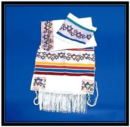 NEW JEWISH MAGEN DAVID TALLIT PRAYER SHAWL S=18 JUDAICA