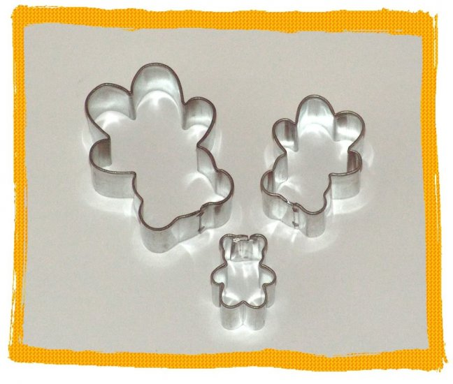 3 Metal Cutters Teddy Bear Cake Sugarcraft Fondant Set