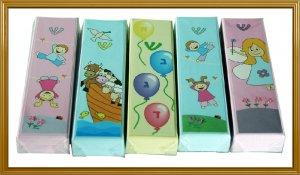 Amazing 5 LOT 10 CM Painted Wood Children Mezuzah Gift