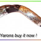 "Amazing Silver-Plated 33"" Yemenite Shofar Judaica Kudu"